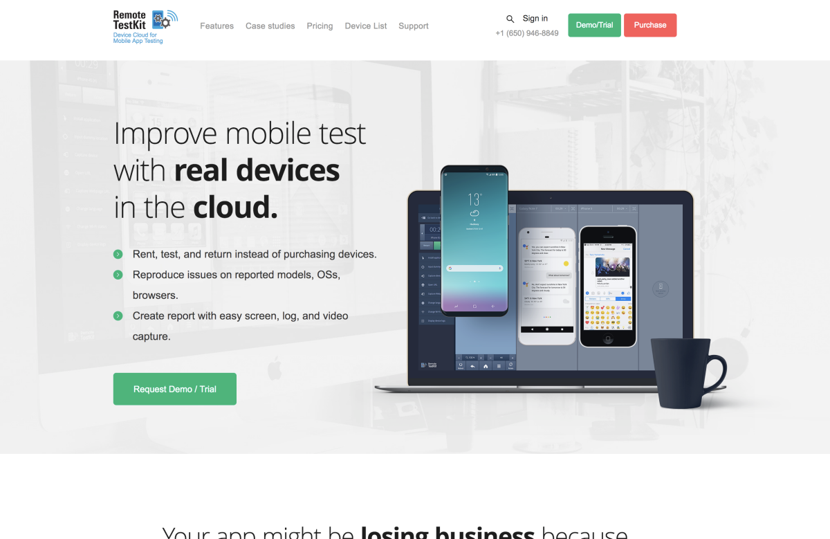 Supported Device list | Mobile app testing -Remote TestKit